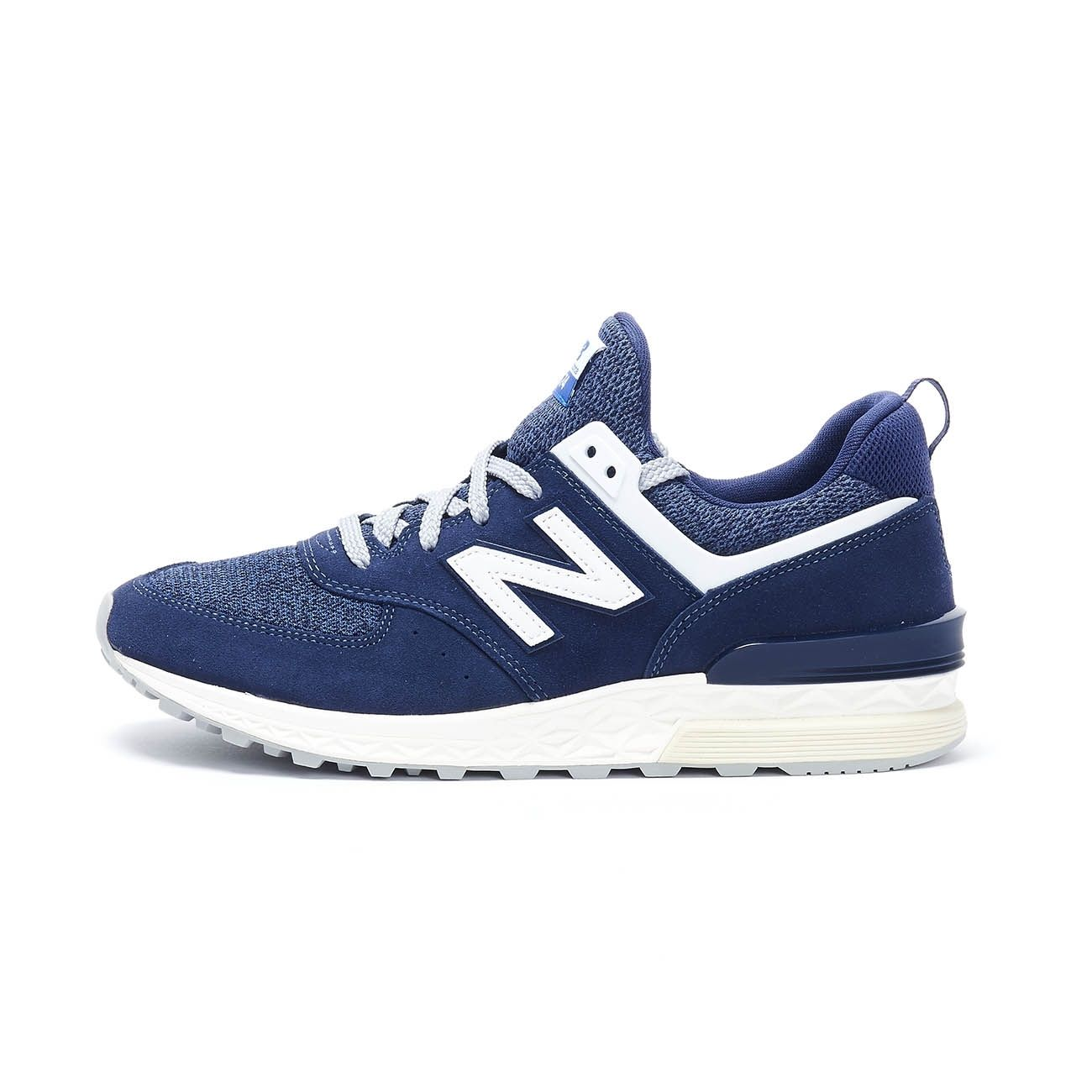 NEW BALANCE SNEAKERS 574 SPORT LIFESTYLE SUEDE Uomo Navy ...
