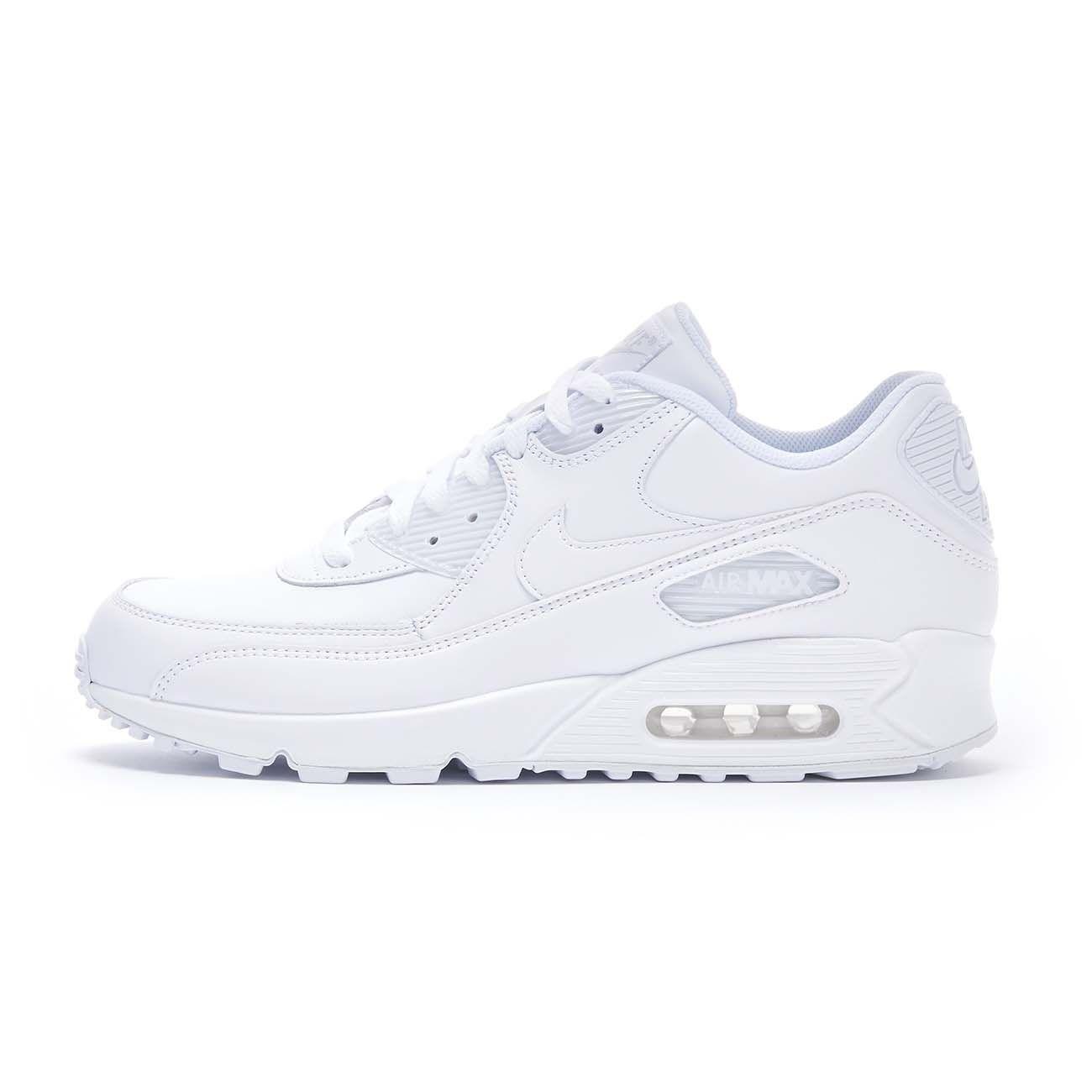 NIKE SNEAKERS AIR MAX 90 LEATHER Uomo White   Mascheroni Sportswear