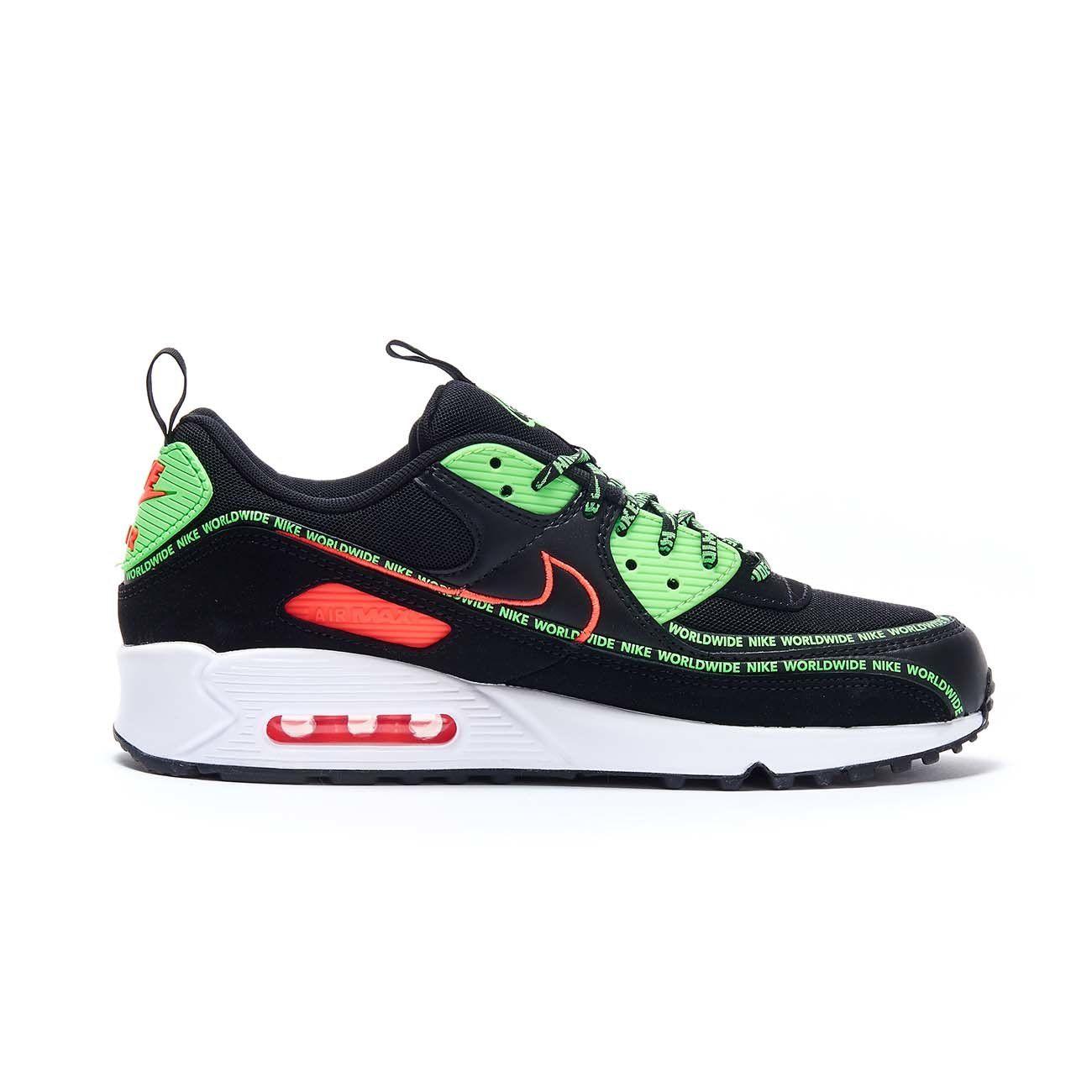 NIKE SNEAKERS AIR MAX 90 SE Uomo Black Green | Mascheroni Sportswear