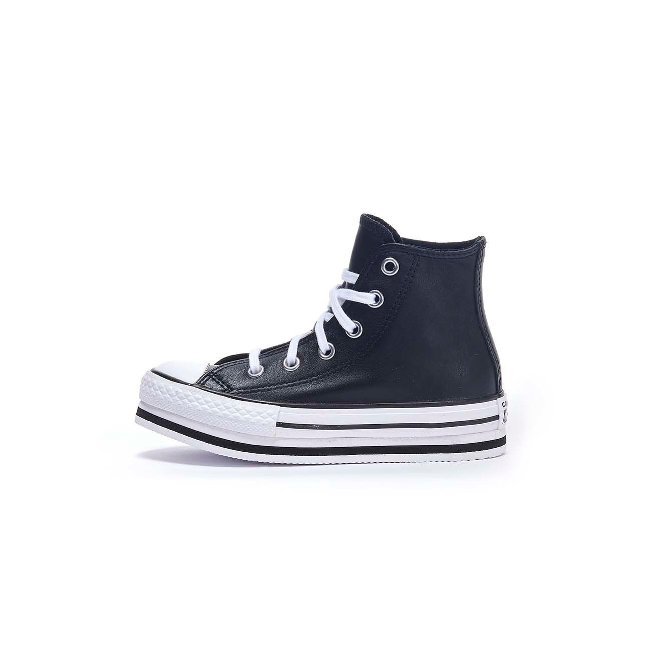 CONVERSE SNEAKERS CHUCK TAYLOR ALL STAR PLATFORM IN PELLE Bambino ...